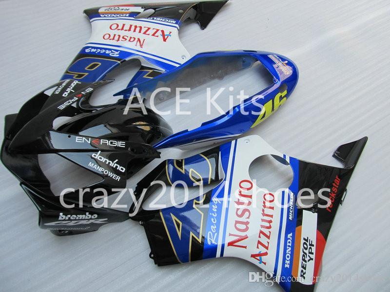 Body repair parts for HONDA CBR600F4I 2004 2005 2006 2007 Injection fairings cbr600 f4i CBR600 f4i 04-07 Black Blue White gray fairing kit