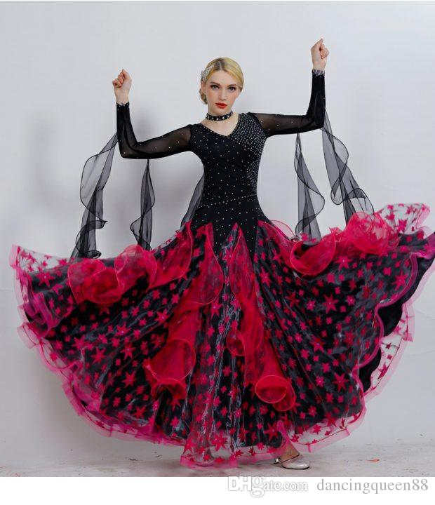 36a625772 2019 Dress Red Ballroom Dance Competition Dresses Fringe Women ...