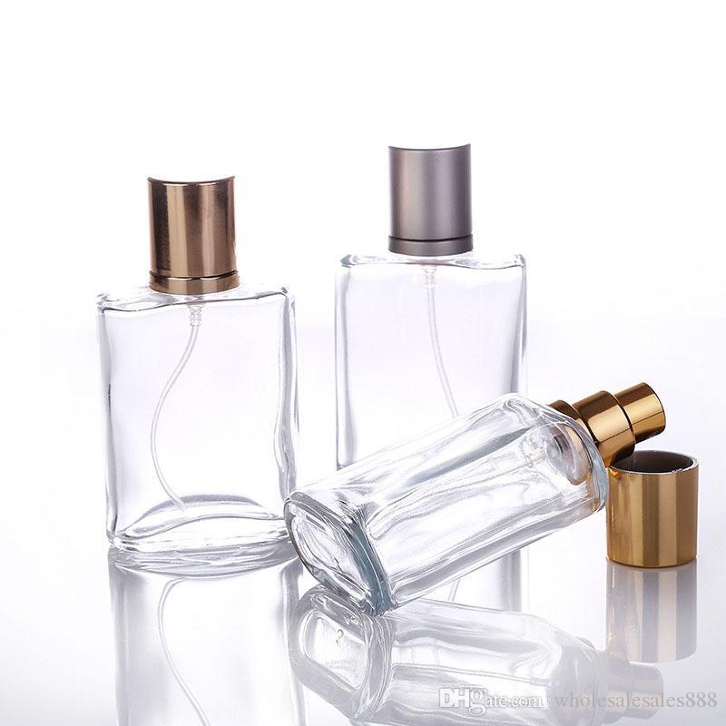 50 Adet / grup 30 ml Yuvarlak Parfüm Sprey Şişe Sprey Şişe Kullanımlık Şişe Şeffaf Cam Nebulizatör Ücretsiz Kargo