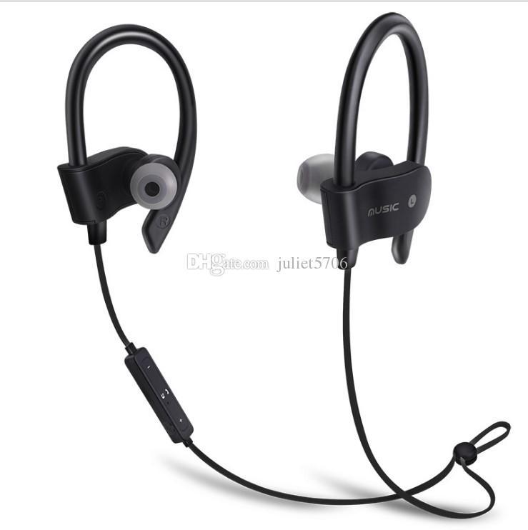 0575206add2b30 In Ear Wireless Bluetooth Sports Earphone Ear Hook Stereo Headset Bass  Headphones Mic For Smartphones Samsung S6/7/8 Edge Android Phone Best  Headphones ...
