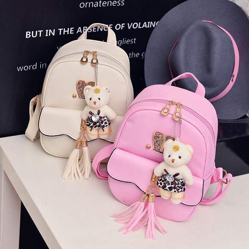 Children Kids Backpack School Bags Leather Princess Girl Travel Back