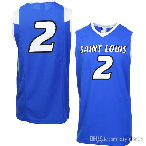 b826faca8 2019 NO.2 Saint Louis Billikens Men Women Youth College Basketball Jersey  Embroidery Athletic Outdoor Apparel Mens Sport Jerseys Size S 3XL From  Aiyin8606