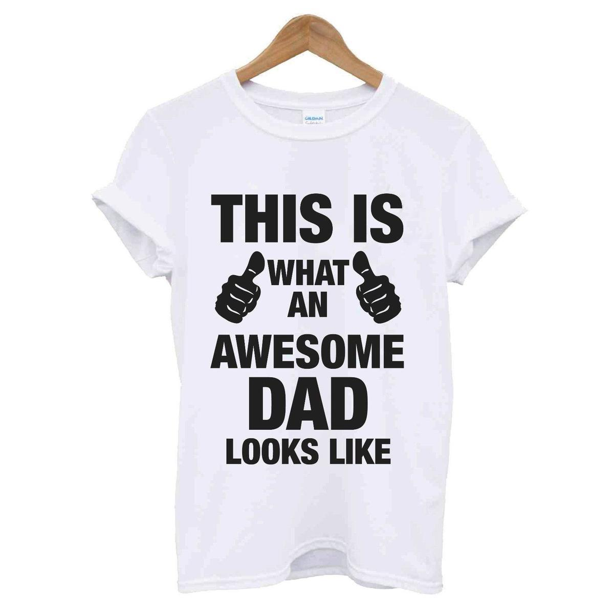 AWESOME SUPER DAD DADDY T SHIRT FATHERS DAY XMAS CHRISTMAS BIRTHDAY GIFT TEE TOP Shirt Shop Online Crazy From Jikai07 1273