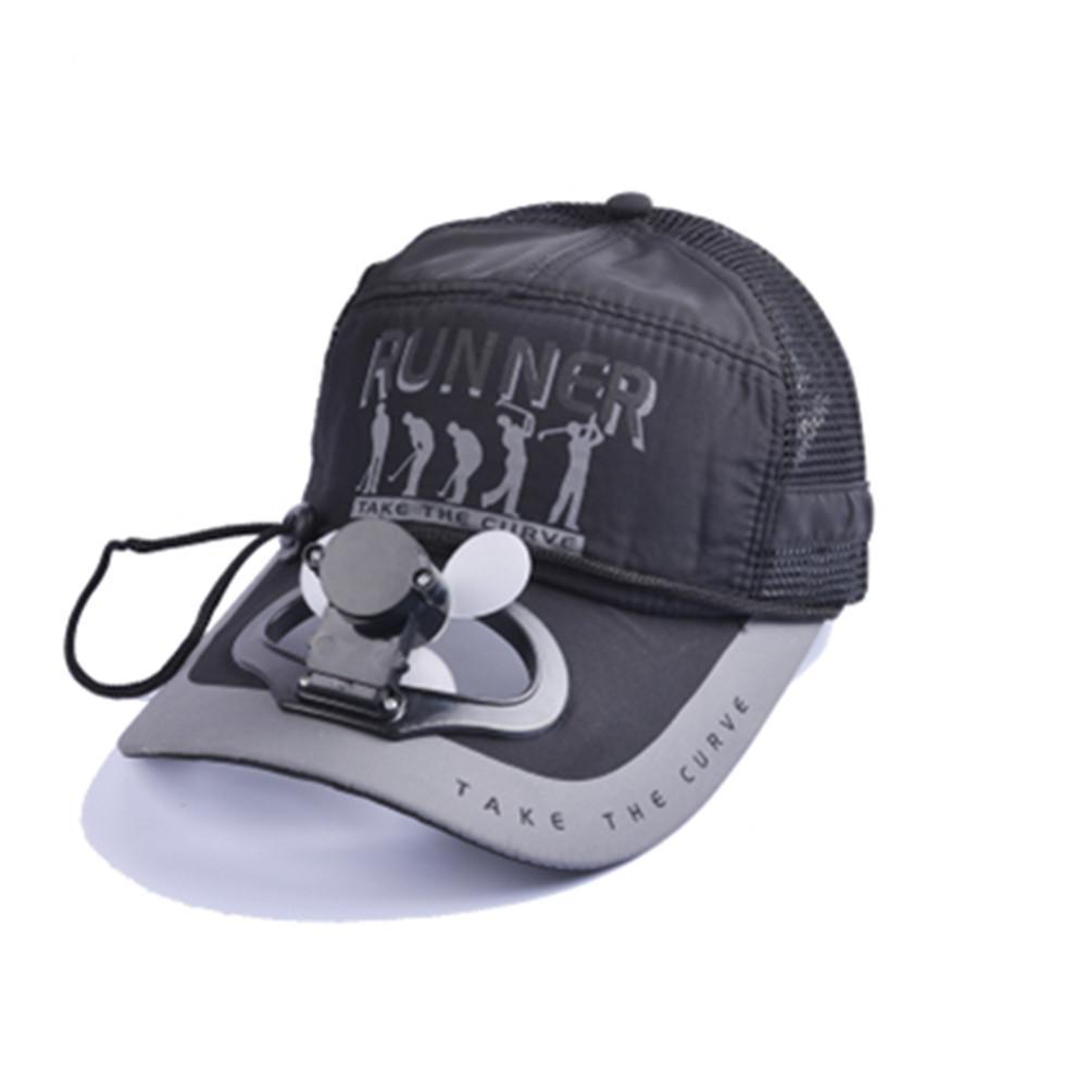 2019 original magasiner pour authentique grande remise mrwonder Femmes Hommes Couleur Unie Ventilateur Refroidissement USB Charge  Pêche Parasol Baseball Golf Casquette Chapeau avec Lettres