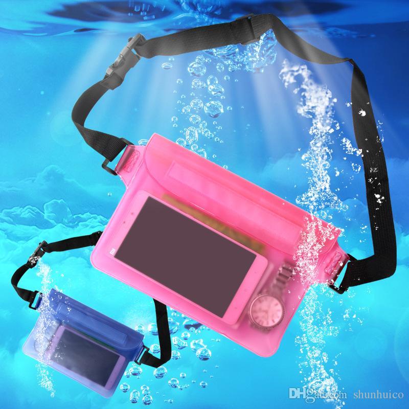 Wasserdichte Sporttasche Schwimmen Gürteltasche Driften Tauchen Taille Gürteltasche Unterwasserbeutel Trockene Schulter Rucksack Handytasche