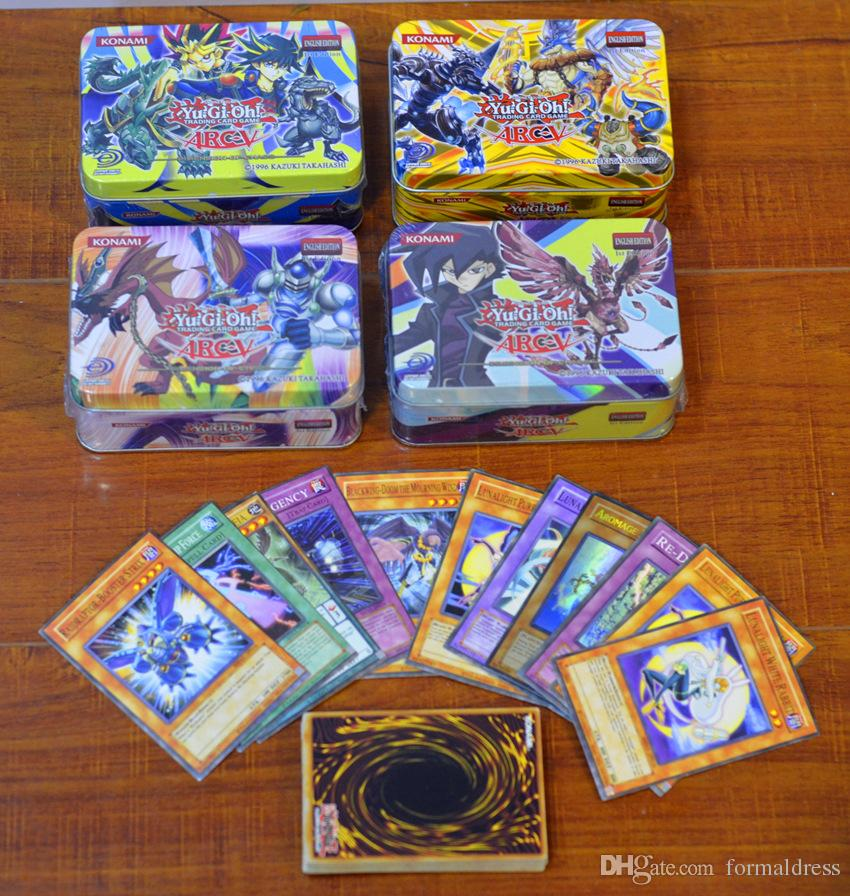 41 stksmet doos yugioh spel papier kaarten speelgoed meisje jongen