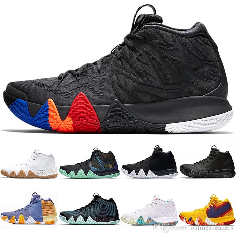 new arrival 4bd1b 090e4 Kyrie Irving 4 4s Men Basketball Shoes Uncle Drew Triple Black Oreo 70s 80s  90s Mamba Mentality Red Carpet Sport Sneaker 7-12 Wholesale