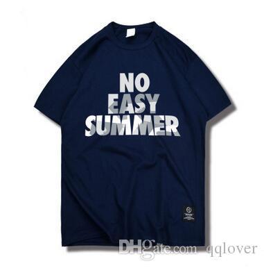 df34ca4e824c Sports Tshirt Summer Basketball Training T Shirt European And American Hip  Hop Cotton Tshirt Letter Print Loose Short Sleeved Tshirt White Shirt Tee  Shirts ...