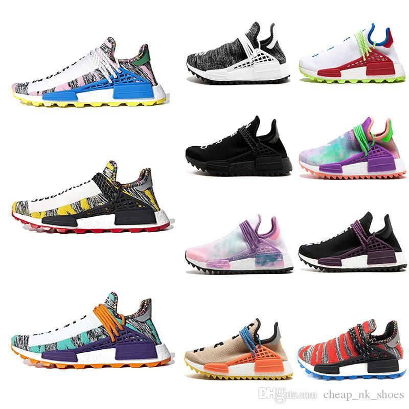 3037e7427415d0 Pharrell X Human Race L4ND Hu Trial Solar Pack NERD Homecoming Men Women Running  Shoes Holi Core Black Nobel Ink Sports Sneaker 36 47 Walking Shoes Trail ...