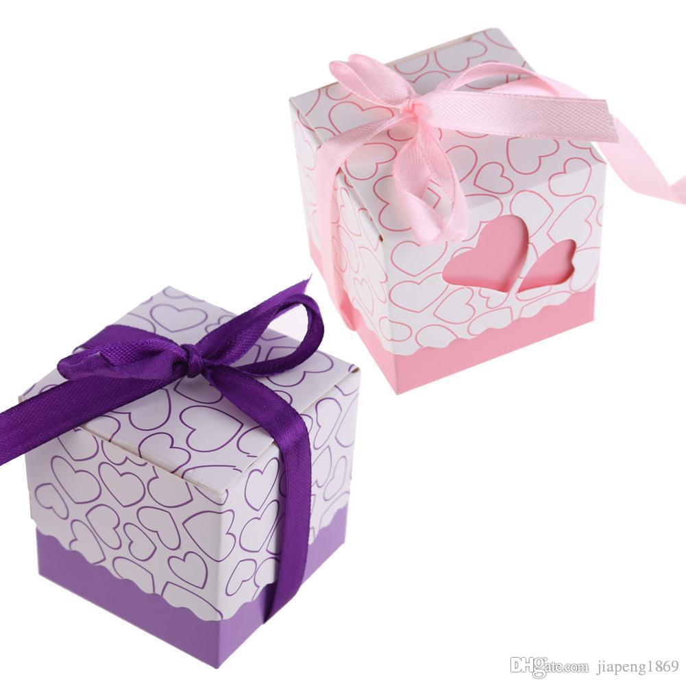 Hollow Out Love Wedding Candy Box Sweets Gift Favor Boxes With ...