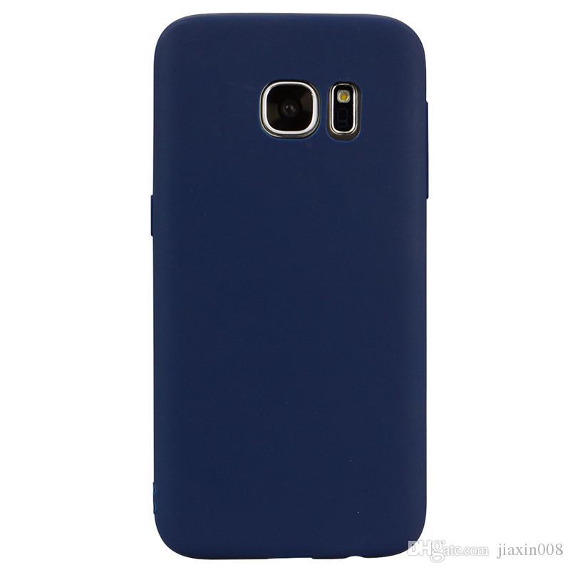 reputable site d61e4 b8a8a For Samsung Galaxy S7 Case Back Cover Soft TPU Candy color series Ultrathin  Designer Mobie Phone Case Capinha