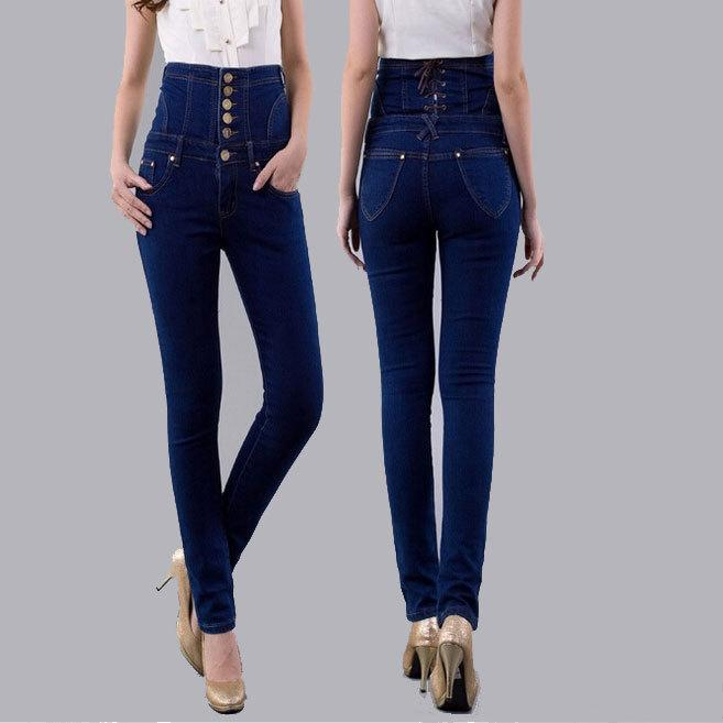 43f4d8f2c3d99 2019 Fashion Vintage Women S Empire Waist Jeans Woman Skinny Super High  Waisted Jeans Lady Slim Stretch Pencil Jean Plus Size 6xl From Pulchritude