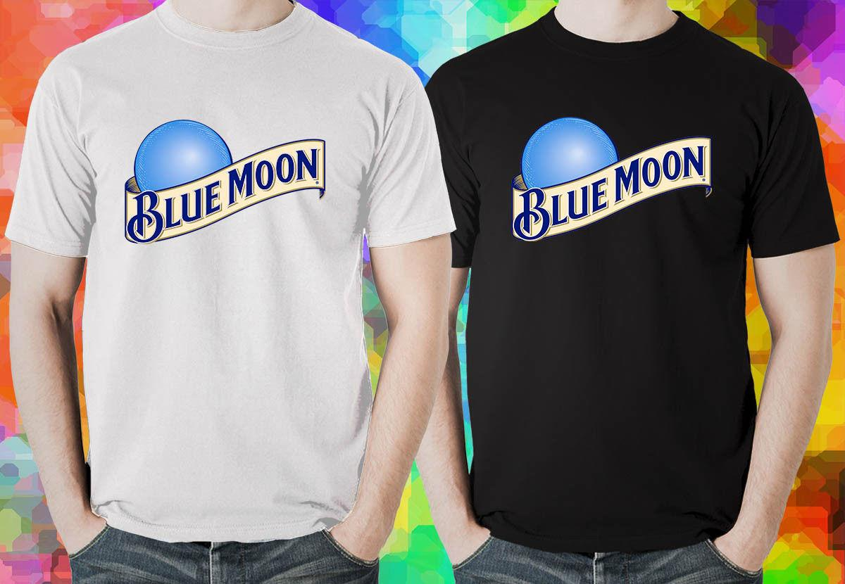 Blue Moon Beer Logo Mens Black And White T Shirt Rude T Shirts