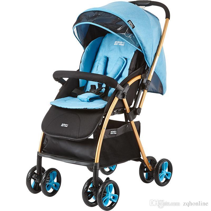 fashion lightweight baby stroller baby pram 4 wheel children umbrella car foldable pushchair can sit lie down