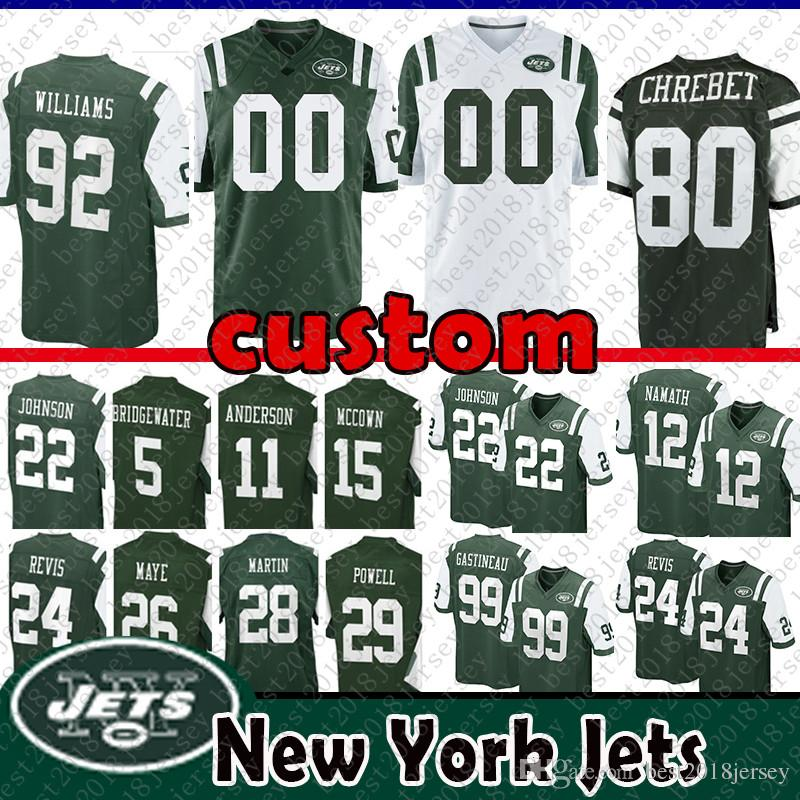 sports shoes 60d98 5b303 92 Leonard Williams Custom New York Jersey Jets 12 Joe Namath Revis 5 Teddy  Bridgewater 28 Martin 99 Gastineau 22 Johnson 15 Josh McCown