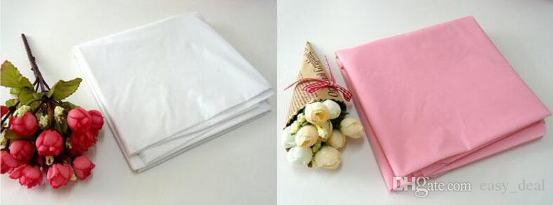 Disposable Round Birthday Party Table Cloth Pure Color Waterproof Round Plastic Table Cover Tablecloth 213*213cm ZA6200