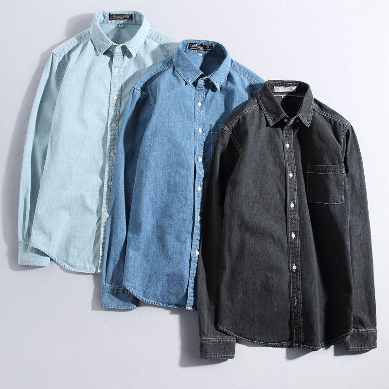 ba6ac48fba Quality Denim Shirts Men Spring Soft Thin Casual Cotton Long Sleeve Jeans  Shirt Man Fashion Vintag Jeans Tops Male Shirts TS-292 Casual Shirts Dress  Shirt …