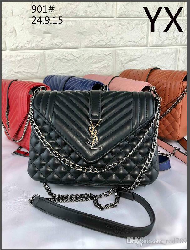 Brand Handbags Luxury Handbag Designer Shoulder Bag High Quality Latest  Ladies Chain Shoulder Bag Cross Body Bag Leather Purse Womens Purses From  Red789