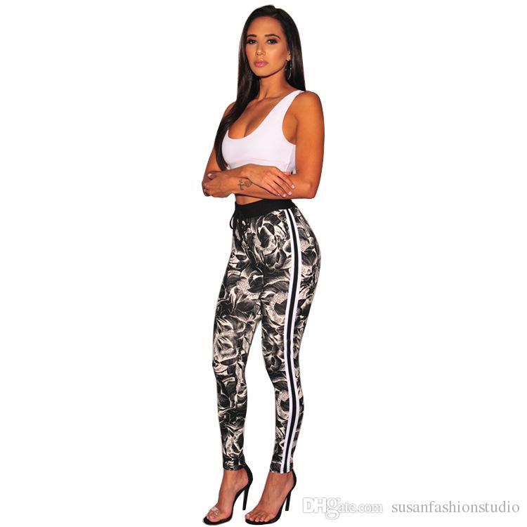Sportswear Tute da donna Esplosivo Side Stripe Europa e America Commercio estero Set sportivo da donna sportivo da donna