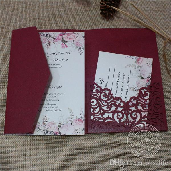 2018 fashion burgundy pocket wedding invitations die cut laser cut 2018 fashion burgundy pocket wedding invitations die cut laser cut jackets wedding invites colors available vistaprint wedding invitations wedding stopboris Image collections