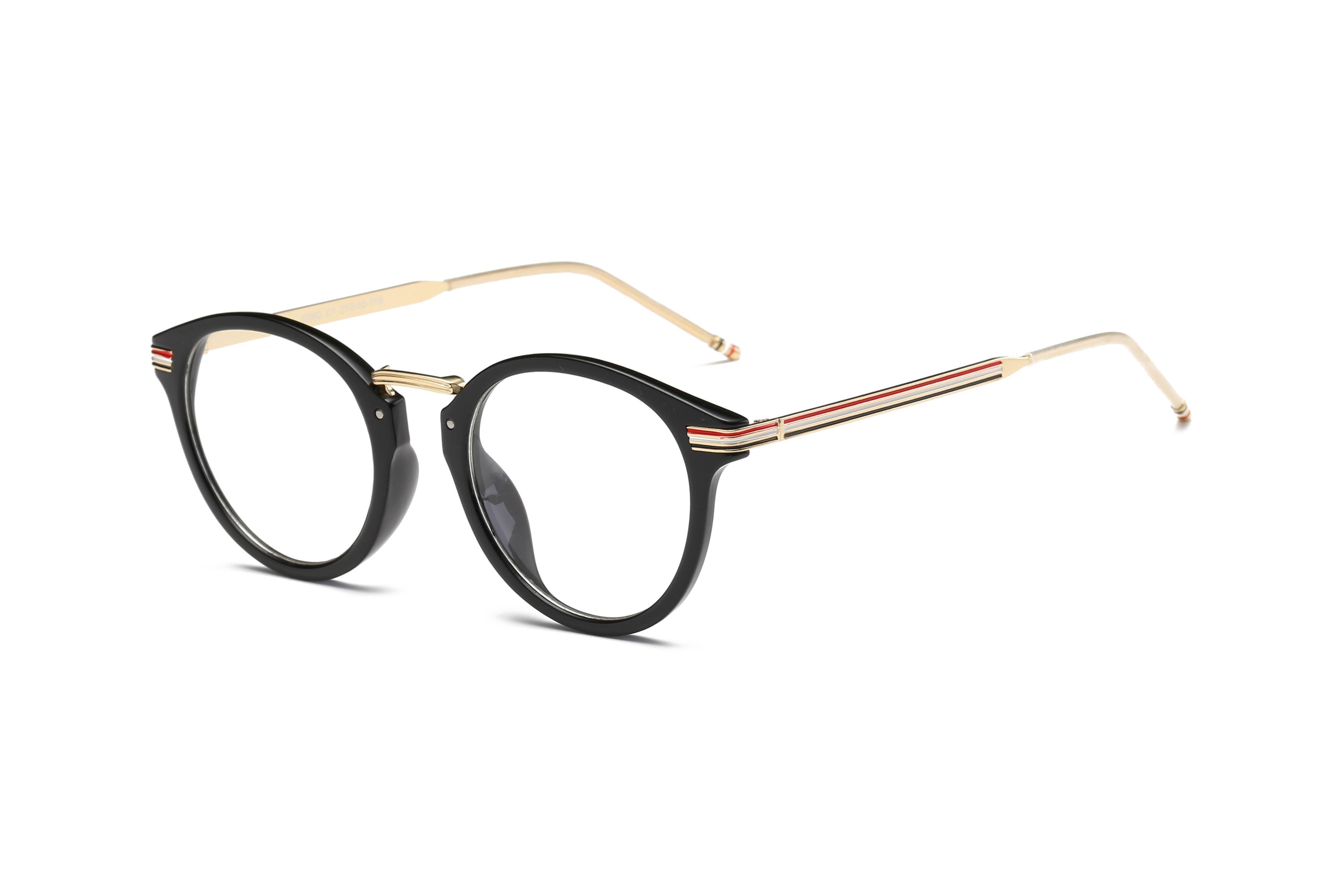 Großhandel Modemarke Retro Designer Brillen Rahmen Metall Runde ...