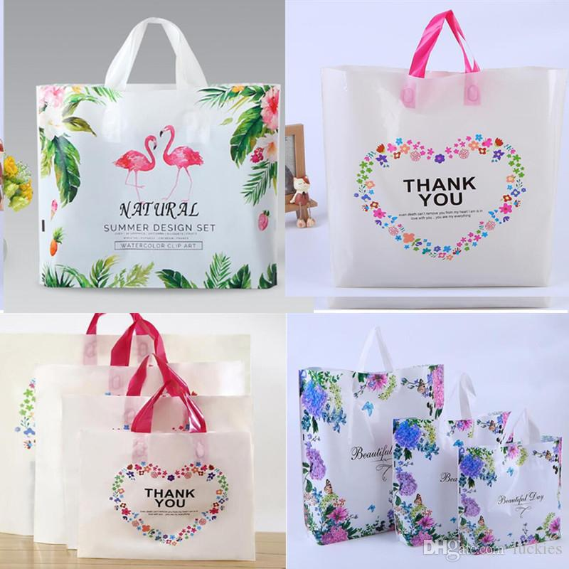 Flamingo Plastic Gift Bag Merchandise Bags with Handles Bag Dream Flamingo  Gift Packing Bags for Shopping 65b612753