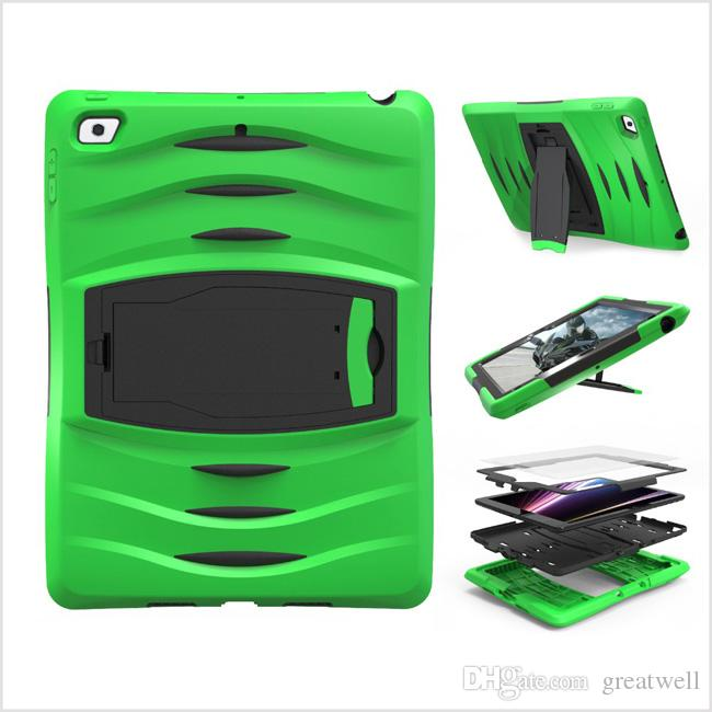 3 In 1 Soft Robot Silicone Hybrid PC Hard Case CoverFor New IPad 9.7 2017 IPad 5 6 Pro-9.7 Mini 123 4 T280 T350 T580