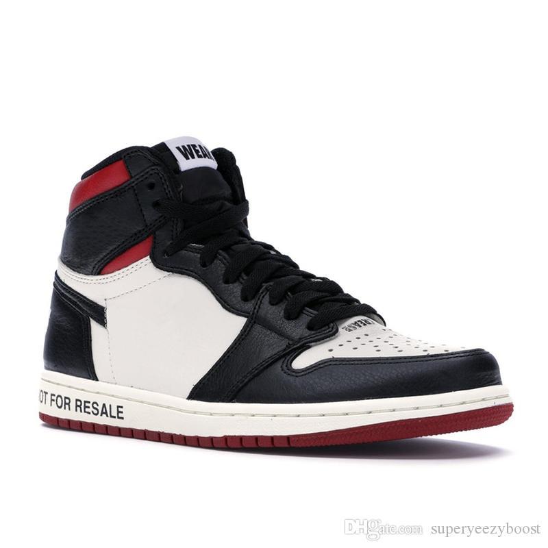 f245e35b7b12c3 Acheter Nike Aie Jordan 1 NRG OG High Basketball Chaussures Hommes Black  Toe Pas Pour La Revente 1s Baskets Hommes No L's Noir Jaune Bottes Taille  US7 13 De ...