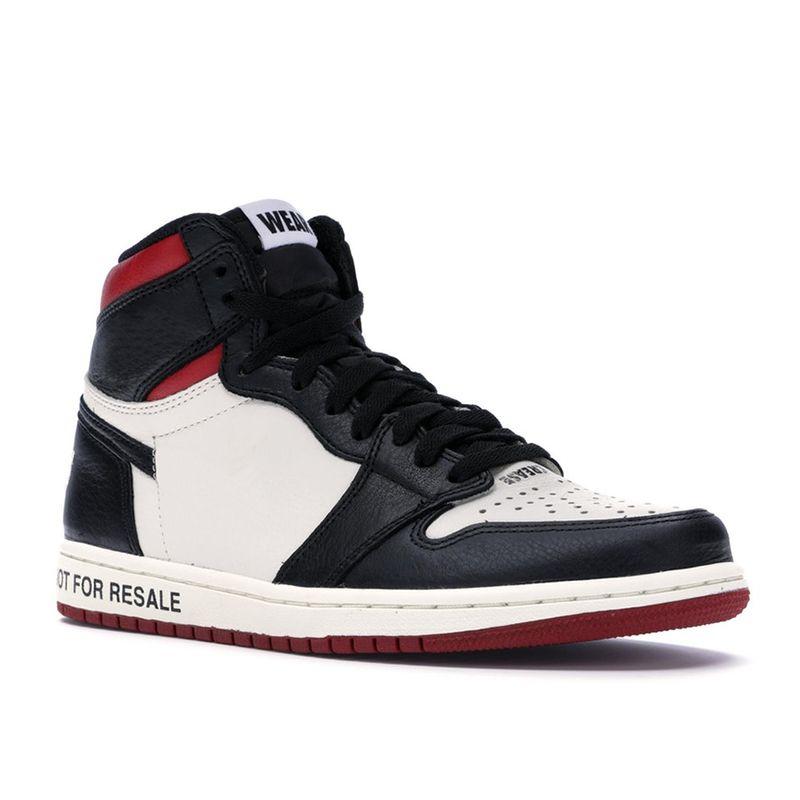 wholesale dealer 95db2 db534 Compre Nike Air Jordan 1 NRG OG High Basketball Shoes Men Black Toe Not For  Resale 1s Sneakers Para Hombre No L s Negro Amarillo Botas Tamaño US7 13 A  ...