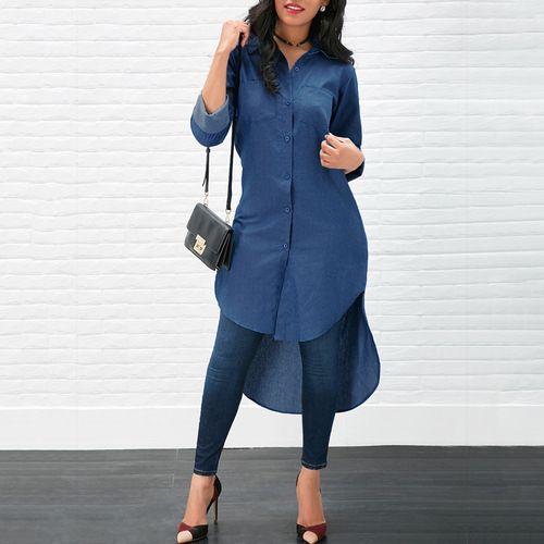 women jeans blouse fashion winter female womens top fall shirt festivals classics comfort ladies clothing long top