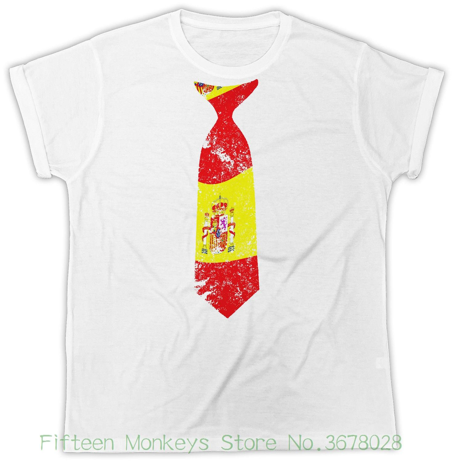 072d12c8 Women's Tee Spain Tie T-shirt Spanish Souvenir Country Fan Unisex Tshirt  Women Brand Kawaii