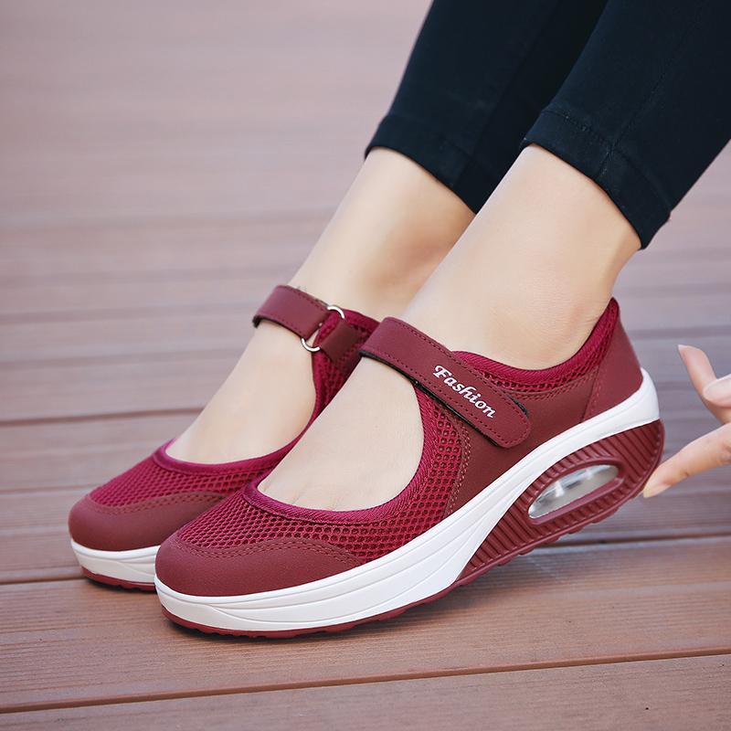 Bjakin Air Cushion Running Shoes Women Summer Light Trainers ... bc8d7d669fed