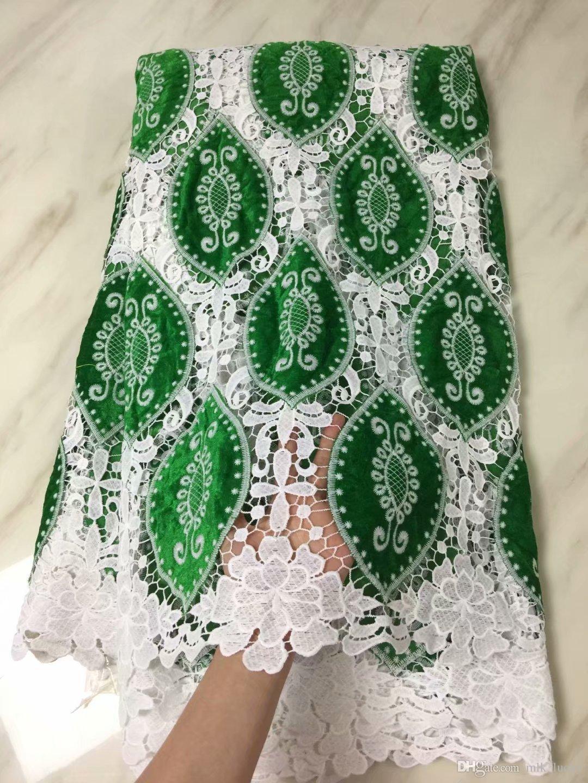 Африканские кружева ткани высокого качества нигерийский гипюр кружева ткани смешать бархат шнур кружева в синий и белый для свадебного платья