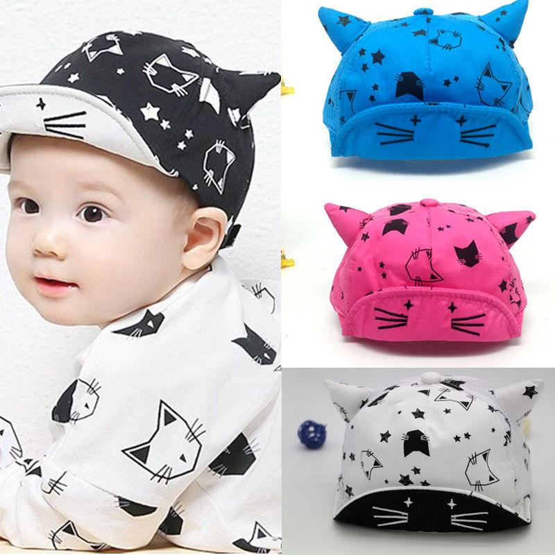 40cf17deb43 2019 2018 Infant Newborn Toddler Kids Infant Sun Cap Summer Animal Cat Ear  Baby Girls Boys Sun Beach Cotton Hat Adjustable Hats Caps From Vanilla14