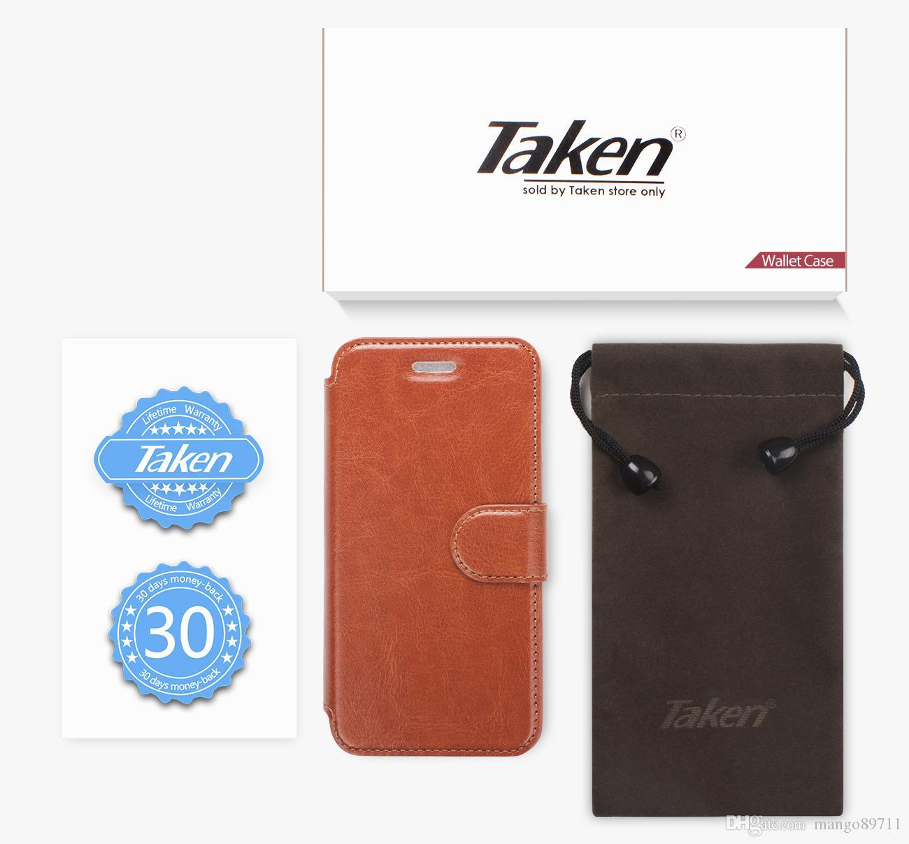 Para iPhone 6 8 7 Plus Funda de cuero para billetera con ranura para tarjetas Metal Magnética Slim Fit Heavy Duty Funda con tapa de PU Marrón