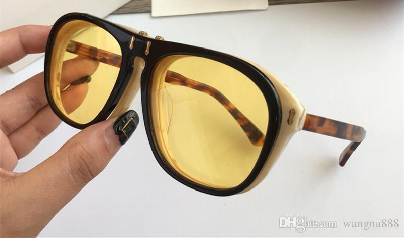 0087 Luxury Sunglasses 0087SK Large Frame Elegant Special Designer With Rivets Frame Built-In Circular Lens Top Quality Come With Case