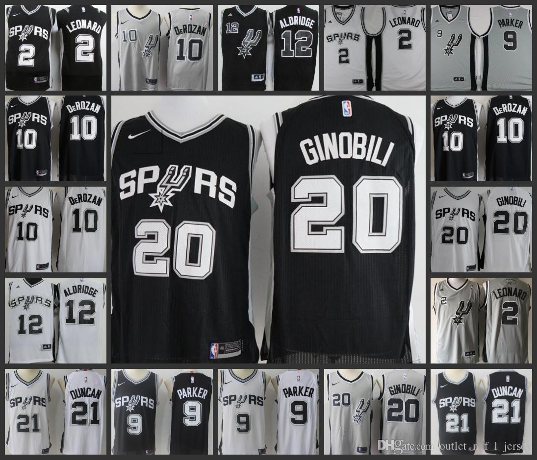 885fa4379 2018 2018 Ncaa San Antonio Spurs Men Jersey  10 Demar Derozan 5 Dejounte  Murray 2 Kawhi Leonard 20 Manu Ginobili Stitched Jerseys From  Outlet n f l jersey