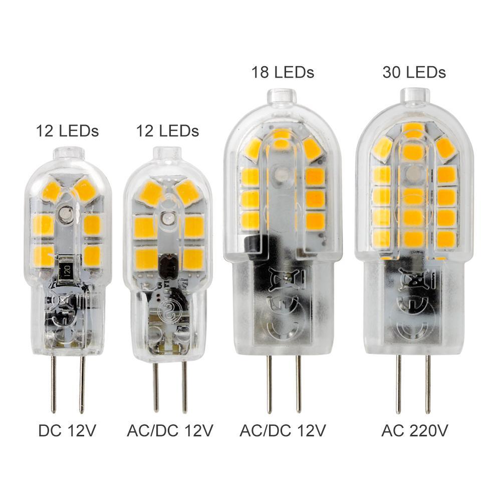 G4 Led Bulb >> 3w 4w 5w 12v Dc Ac 220v G4 Led Bulb Smd 2835 12 18 30leds Mini G4