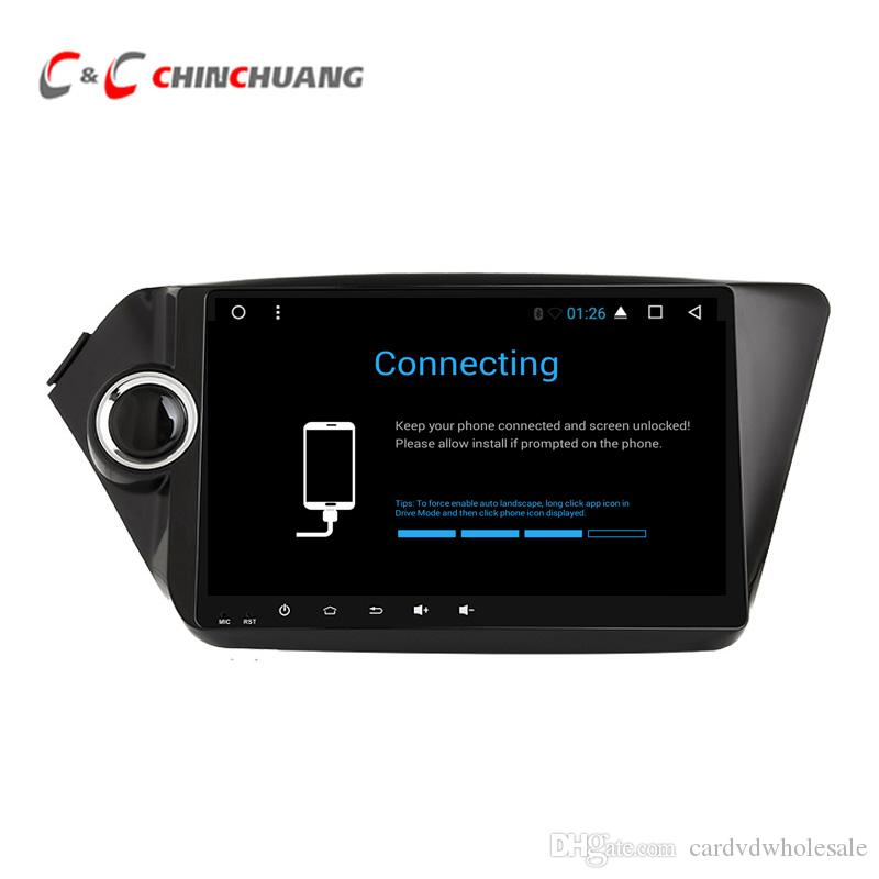 Updated ! T8 Octa-core Android 8 1 Car DVD Player for Kia K2 Rio 2010-2015  With GPS Radio BT Wifi 4G DVR 2G RAM