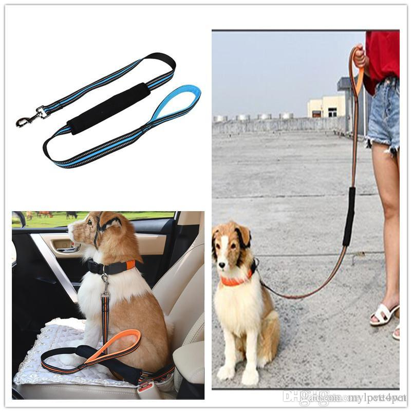Best Dog Seat Belt >> B37 Reflective Pet Leashes And Seat Belt Two In One Dog Traction