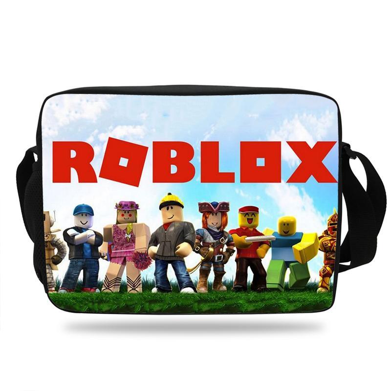Newest Popular Game Roblox Messenger kids Bag Laptop Bag Crossbody School  Satchels For Boys girl Casual Teenager Shoulder