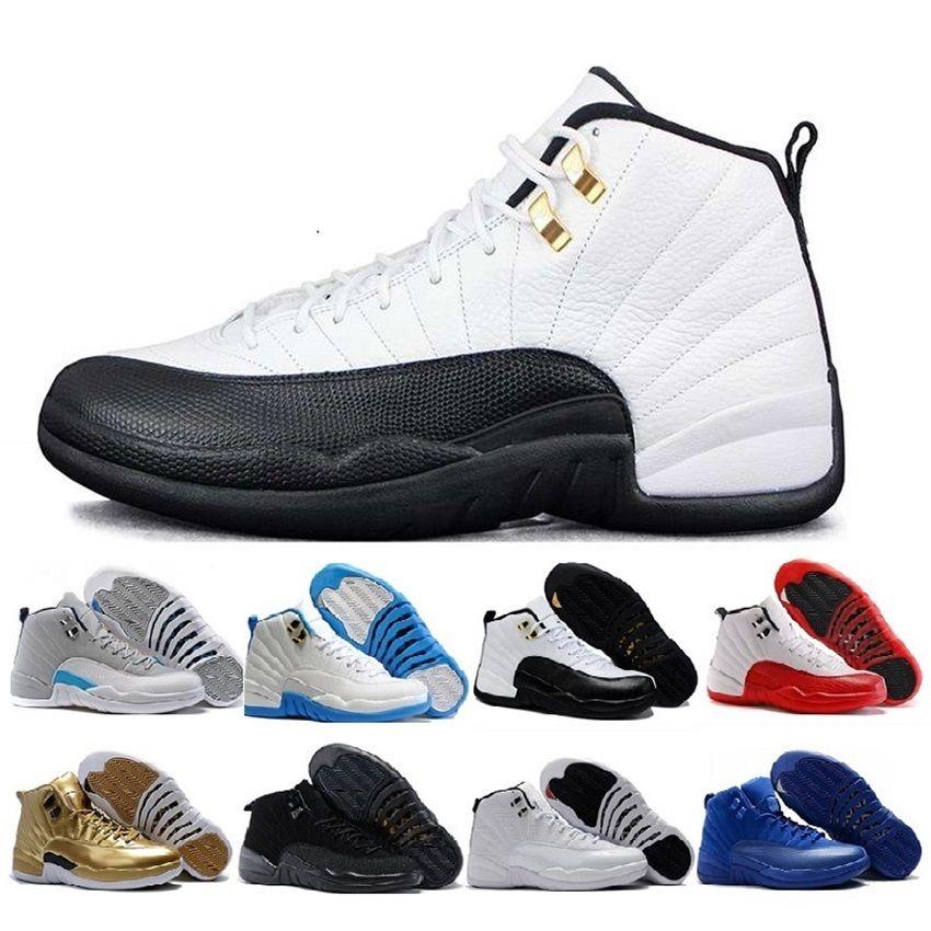new style 346db c6807 Großhandel Nike Air Jordan 12 Aj12 Retro 2018 Günstige 12 Bordeaux Dark  Grey Wolle Basketball Schuhe Weiß Grippe Spiel Unc Gym Rot Taxi Gamma  Französisch ...