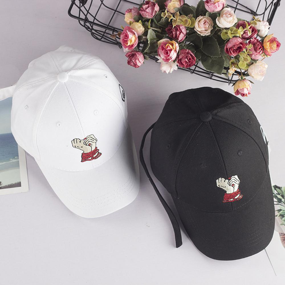 Fashion Women Hat Summer Embroidered Cartoon Caps Hats For Unisex ... 609e390ed369