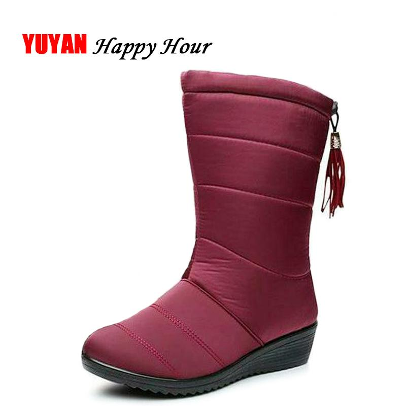 99d29ecbc 2019 New 2018 Winter Shoes Women Snow Boots Waterproof Cloth Warm Plush for  Cold Winter Women's Boots Ladies Brand Wedge Shoes ZH2375