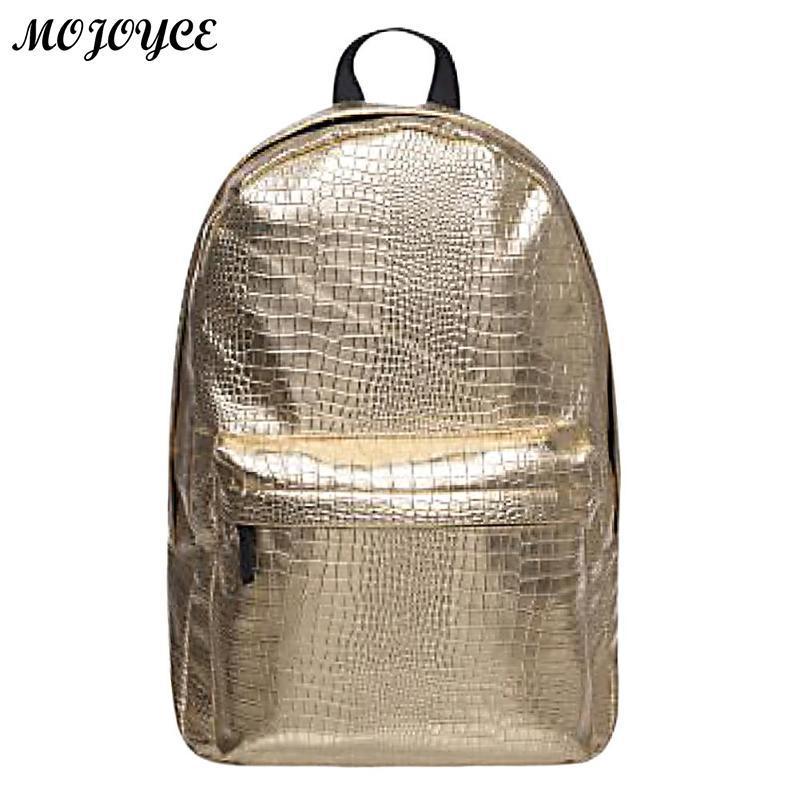 New Stylish Backpacks Women Silver Hologram Laser Backpack Girls Bag PU  Leather Holographic Multicolor Travel Geometric Rucksack One Strap Backpack  ... 2314d6d6818d3