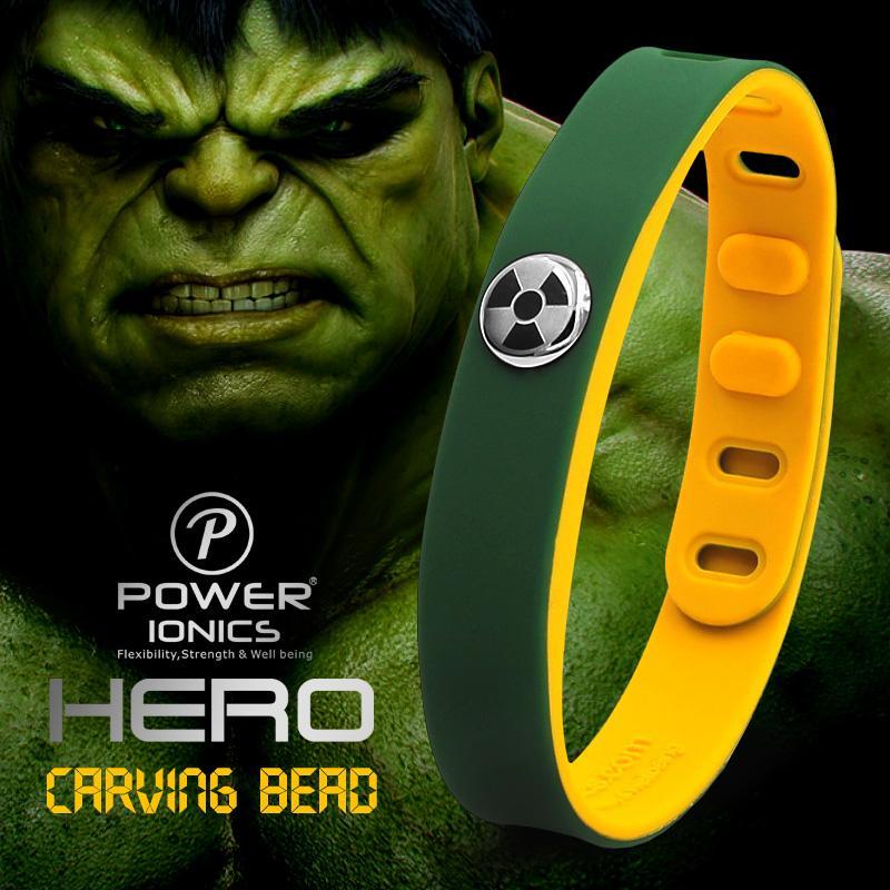 Hero Series Hulk IDEA BAND 3000 ions Sports Waterproof Titanium Healthy  Bracelet Wristband Balance Body