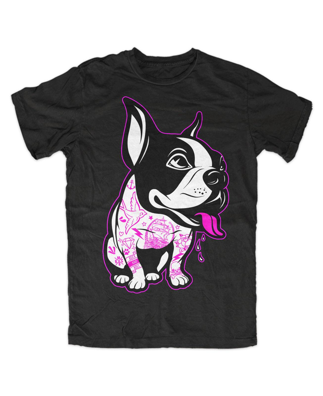 df2c45637bd7 Details Zu French Bulldog Tattooed T Shirt Frenchi,Dog,Love,Tattoo,Street,Fashion,Ink,Hund  Funny Unisex Casual Gift Awesome T Shirts For Men T Shirts ...