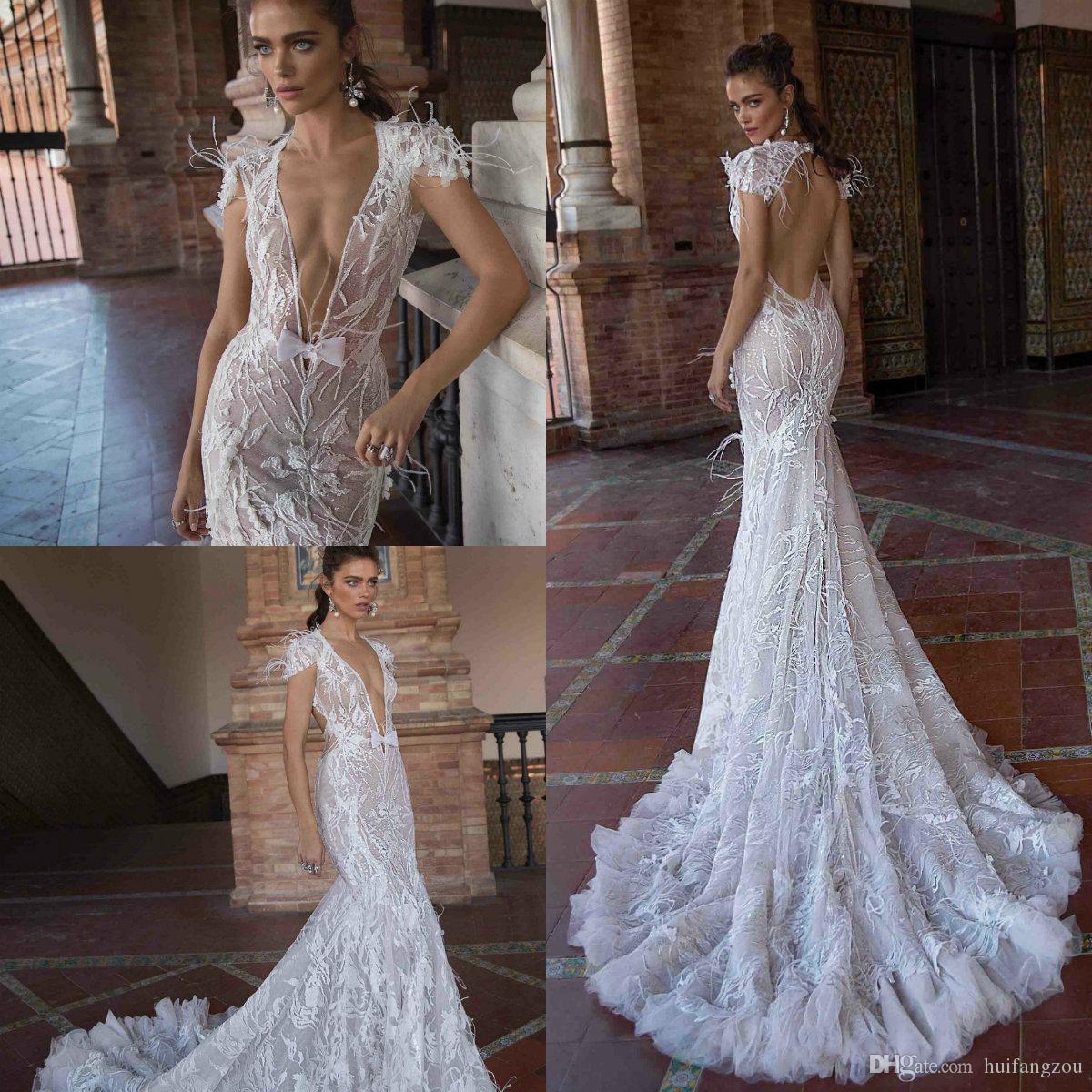 Dhgate Com Wedding Gowns: Berta Fashion 2019 Wedding Dresses Sexy Deep V Neck Cap