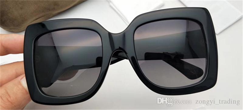 0083 Lunettes de soleil pour femmes Designer 0083S Lunettes de soleil à monture carrée Top Qualité Protection UV Protection Couleur Mixte