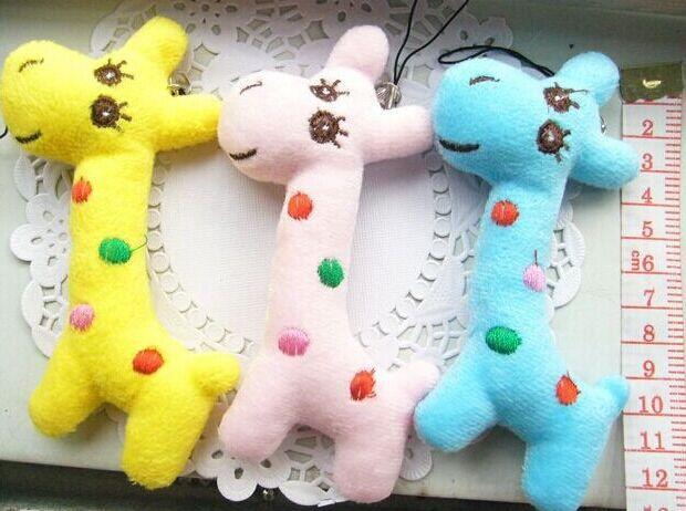 2019 Kawaii Mini Plush Toys Giraffe 8cm Stuffed Toy Doll Wedding